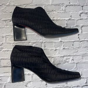 FILIPPO RAPHAEL | Square toe ankle booties